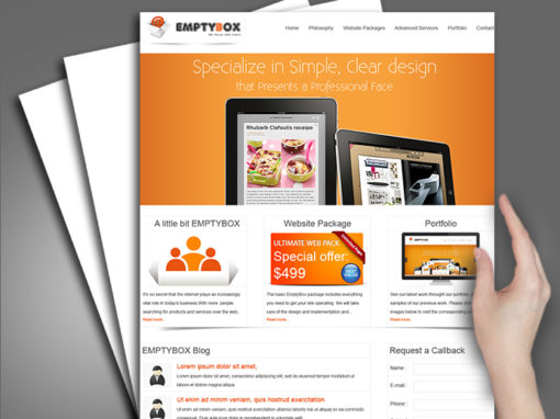 Web Design for Empty Box company