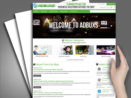 Adbuxs Business Solution Website Design