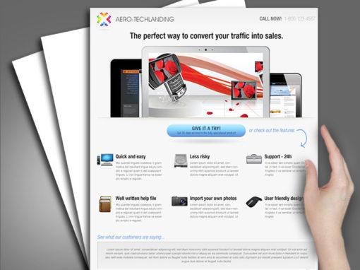 Aero Tech Landing Page Design