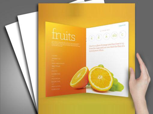Fruits Company Brochure Design